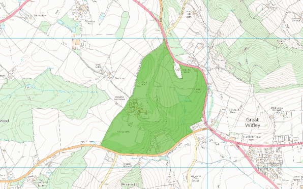 Map of Abberley Hall