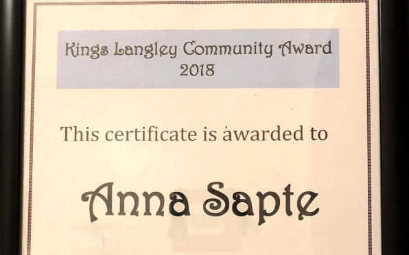 Anna's Award