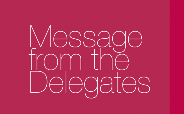 story image for Messages from Delegates