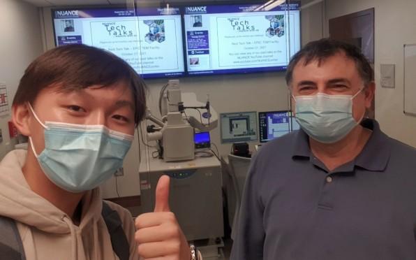 Yuchan Choi '21 and Dr. Kamran Mobarhan '85