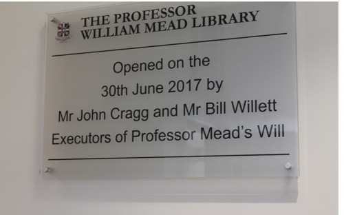 story image for Official Opening of the Professor William Mead Library