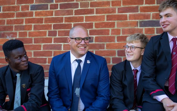 Left to right: Tobi Dairo, Albie Whittemore and Ben Mulholland