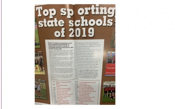 Top sporting state school of 2019