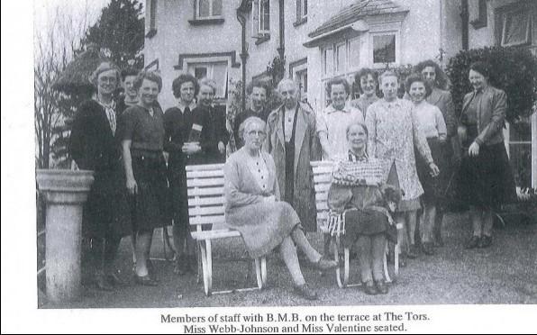 Badminton School staff at their wartime home in Devon.