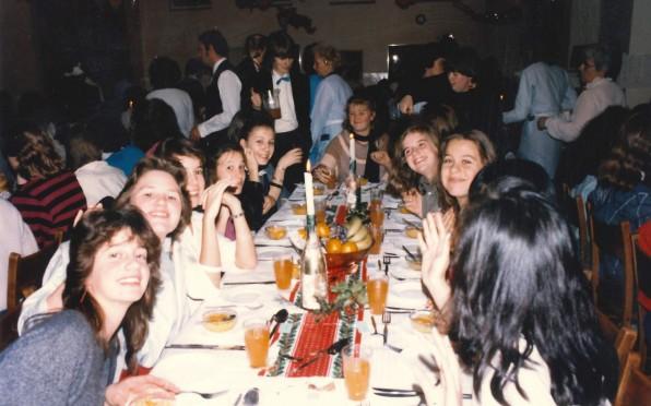 Christmas dinner in the Eighties