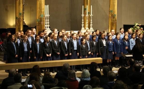 Choir singing at Spring Concert