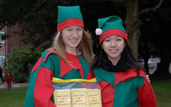 """The Badminton """"elves"""" welcomed the community to Badminton School Christmas Bazaar"""