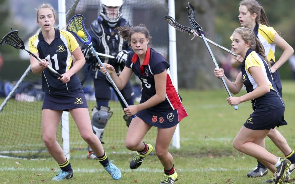 Phoebe Smith, pictured playing for the Berkhamsted 1st XII, now represents Wales internationally