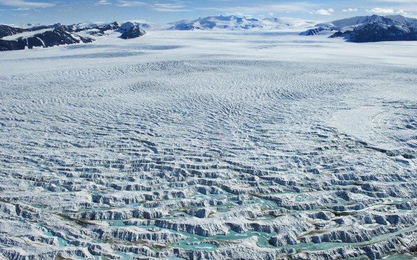 George VI Ice Shelf (Photo from the British Antarctic Survey)