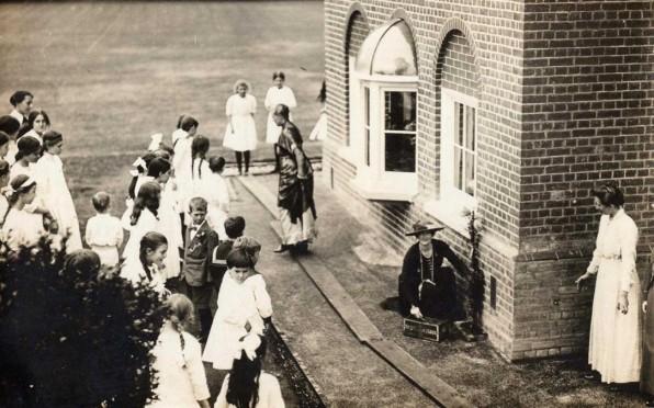 Lady Churchill visiting Berkhamsted School for Girls on 30th June 1915