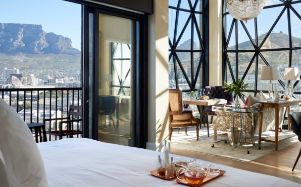 View from a deluxe superior room at The Silo Hotel, V&A Waterfront, Cape Town