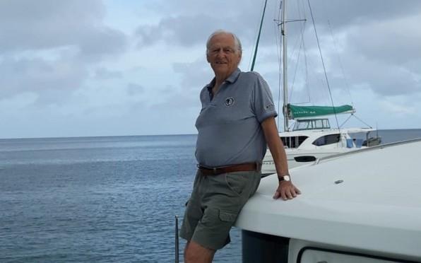 Tony on a sailing holiday, July 2018