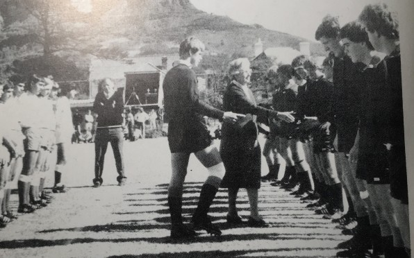 Mrs Peggy Rees meets the First XV