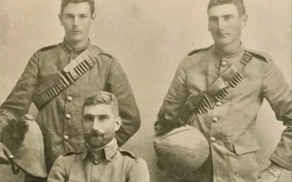 Three of the Hull brothers - T.D.R. Tom Hull, W.B. Billy Hull (top row); seated, G.H. George Hull.