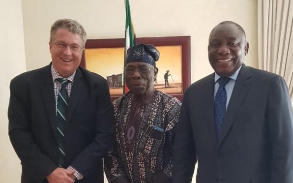 Presidents Obasanjo and Ramaphosa