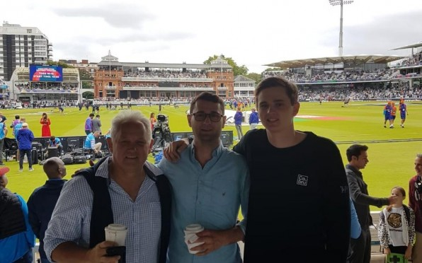 Richie Ryall (1977F) (left), Stephen Ryall (2012F) (middle) and Jeremy Ryall (2014F) (right).