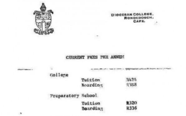 School Fees 1969