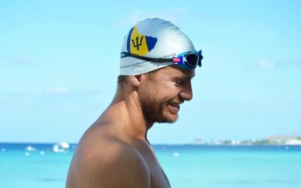 story image for Cameron Bellamy (2000B) becomes first man to swim around Barbados