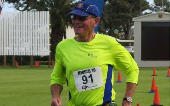 Dr Syd Cullis participating in the annual medical 10km race