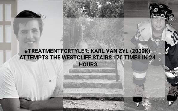 story image for #TreatmentForTyler: Karl van Zyl (2009K) attempts the Westcliff steps 170 times in 24 hours