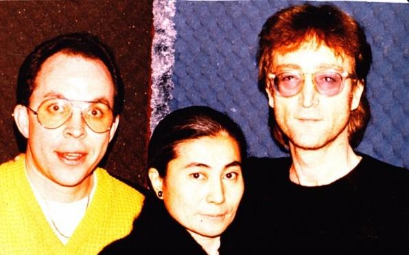 OS Andy Peebles with John Lennon & Yoko Ono - 6th December 1980