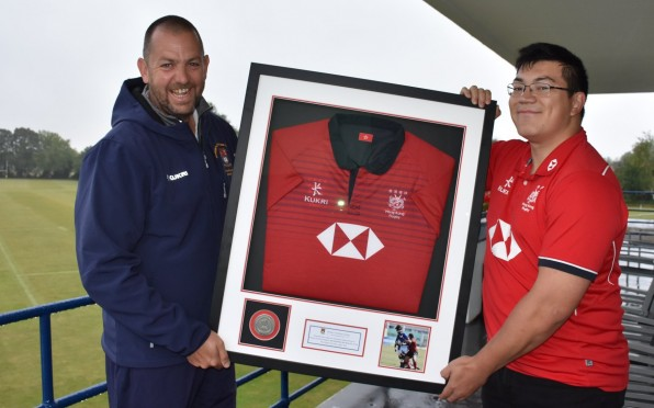 Dan has generously donated his shirt and player's medal to the College.