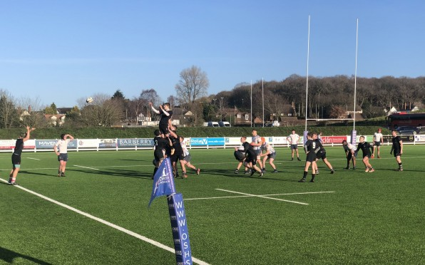 1st XV in action on Saturday