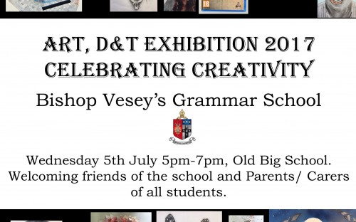 Invitation to Art and D&T Exhibition
