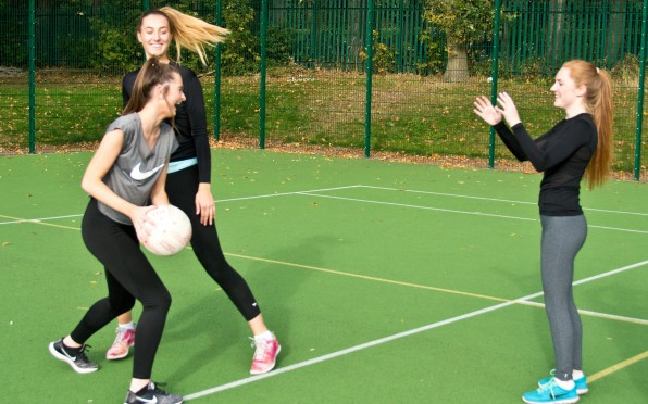 Netball girls working hard in training for forthcoming fixtures