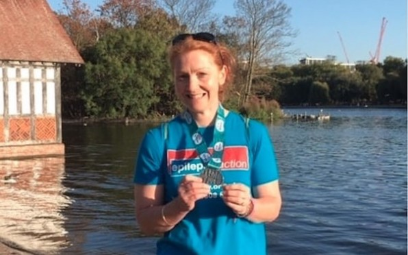 2019 09 20 BWS Geography Teacher Swims the Serpentine in aid of Epilepsy Action