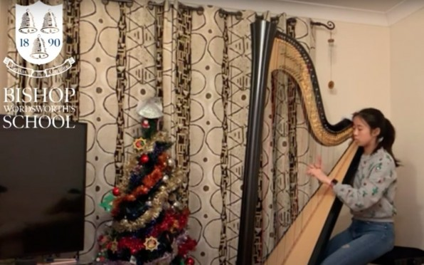 2020 12 BWS Carol Service - Solo Harp
