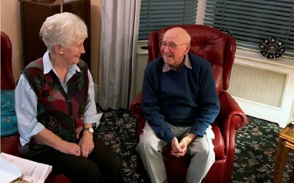 Arthur & Joyce Bowden at home in 2018 - by Michael Barnes