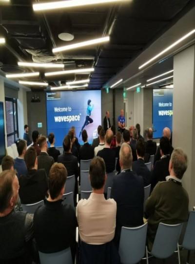 Gallery - Stuart Lancaster speaking at the BCU Networking Breakfast on creating leaders
