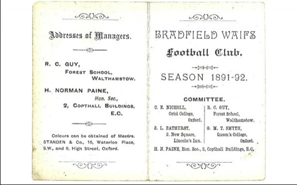 1891 -92 Season Fixture List