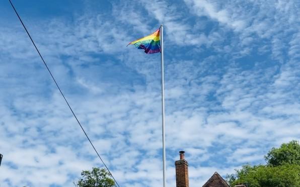 The Pride Flag flying over Crossways