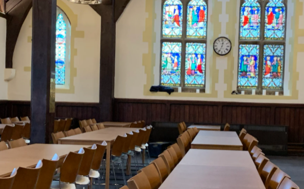 The refurbished Dining Hall
