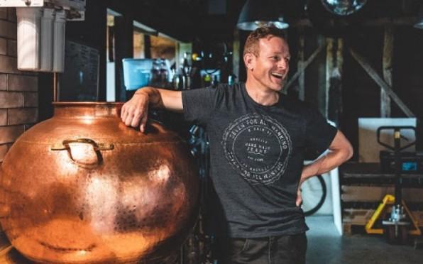 Hugh in the Distillery