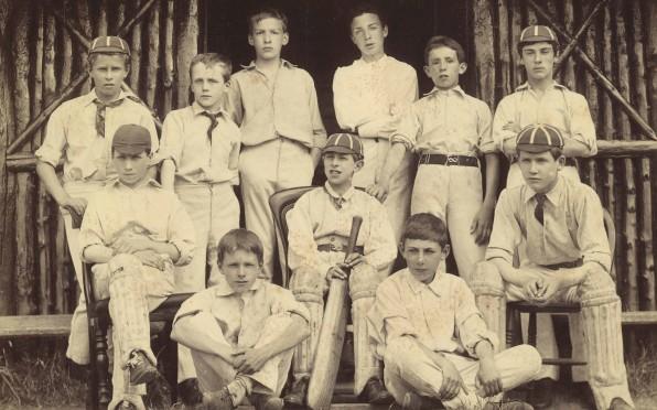 Bradfield Cricket 1887 Thomas G Scott third from back left