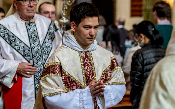 Fr Joseph (Shaun) Bailham having been ordained a Catholic priest for the Dominican Order