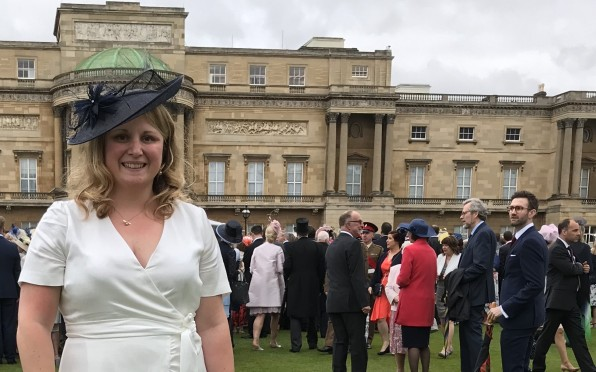 Sophie at the Queen's Garden Party, Buckingham Palace