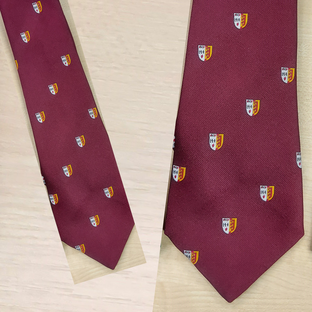 Ties - Maroon with Crest