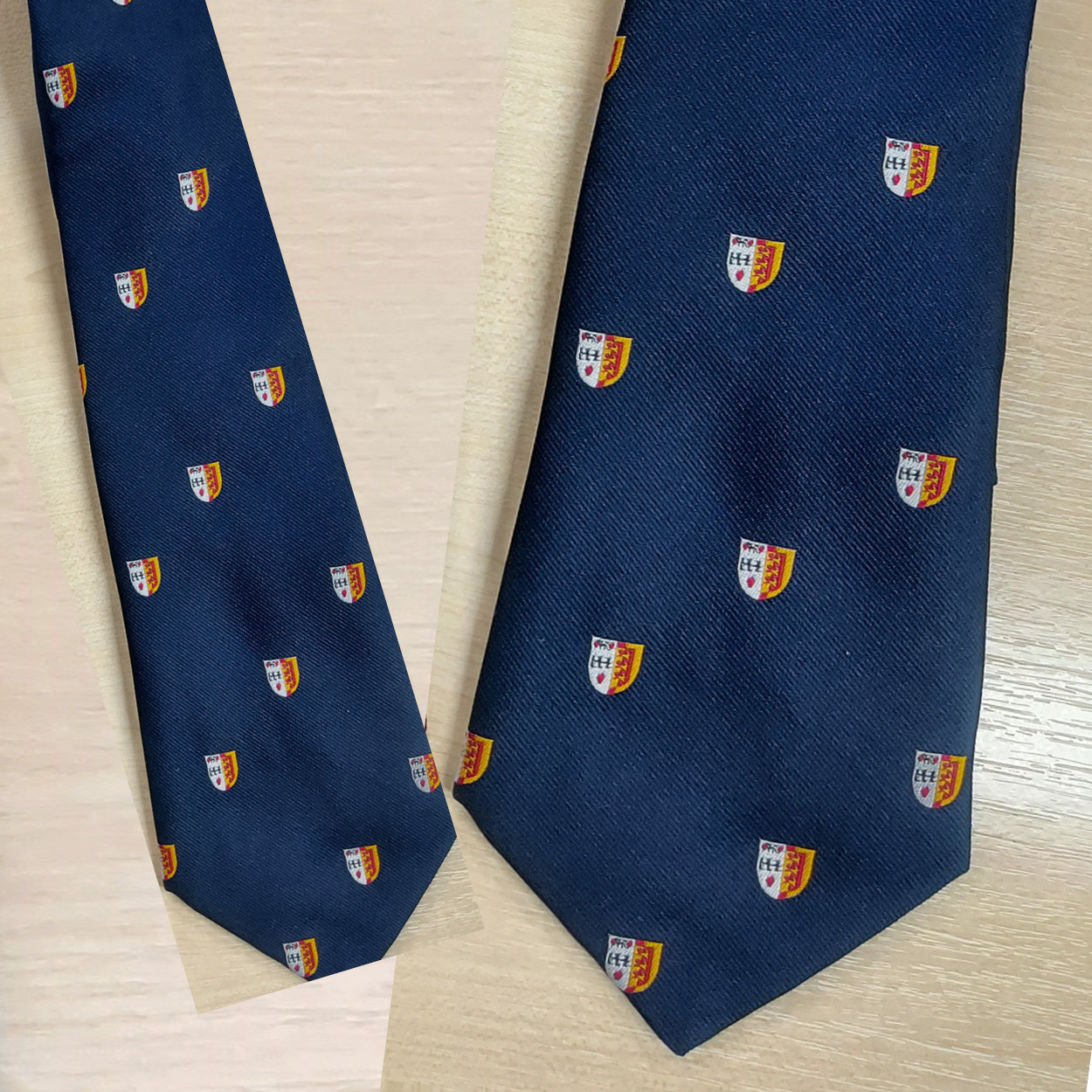 Ties - Blue with Crest