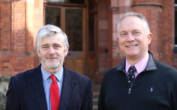 L-R: OCs Colin Fitzpatrick (6129) and Robert Bell (6608)