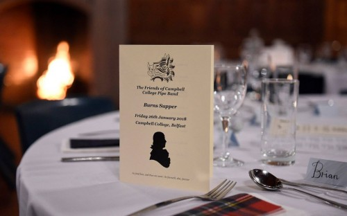 The Friends of Campbell College Pipe Band Burns Supper