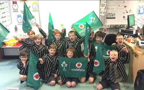 Prep 4 boys are cheering on Ireland in the Autumn Internationals - especially OC Chris Farrell