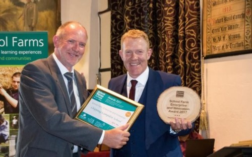 Geoff Carr, Director of the CIC with TV presenter Adam Henson