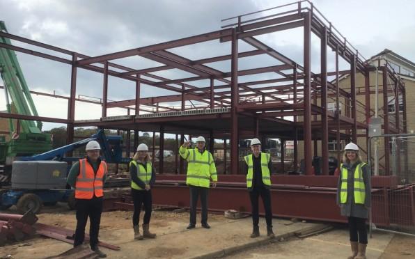 Steel structure taking shape