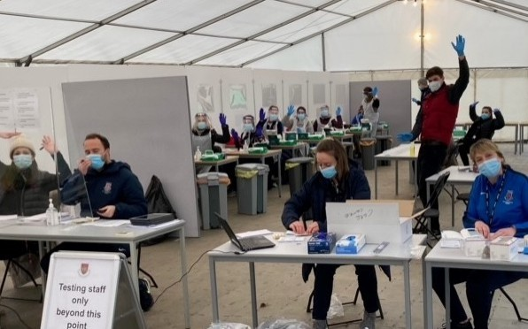 COVID 19 testing centre at CFCS