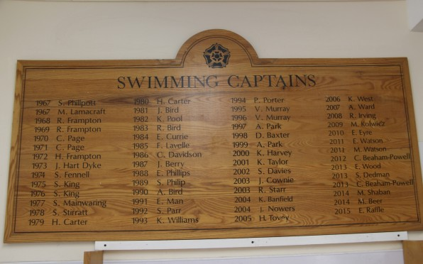 Swimming Captains 1967-2015