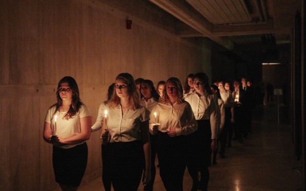 A candlelit start to our Carol Service